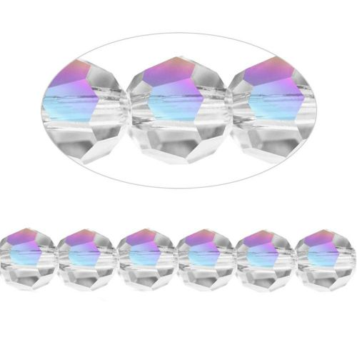 5000 Swarovski Crystal Faceted Rounds 8mm Crystal AB Pk6