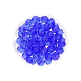 CrystaLove™ crystals / glass / rondelle / 6x8mm / blue / transparent / 72pcs