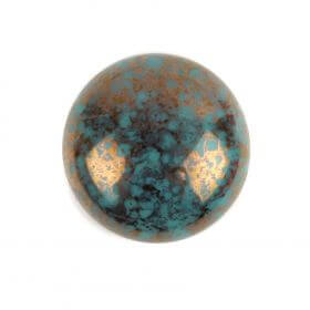 Par Puca Small Cabochon 18mm Opaque Blue Turquoise Bronze Pk1