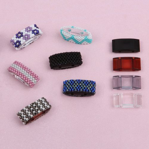 Clear Acrylic Carrier Duo Beads 18x9x5mm Pk10