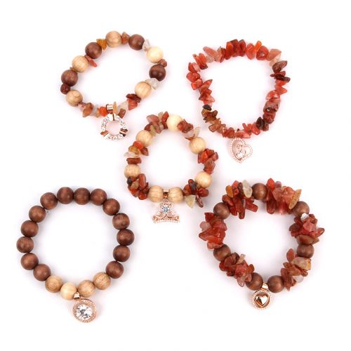 Beads Direct Cherish Semi Precious and Wood Bracelets - Natural