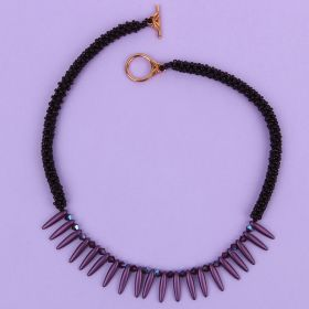Plum Right Angle Weave Thorn TAMB Necklace Kit