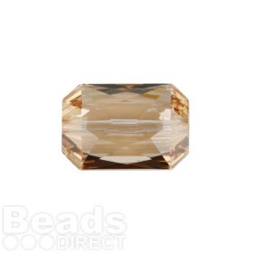 5515 Swarovski Crystal Emerald Cut 12.5x18mm Crystal Golden Shadow Pk1