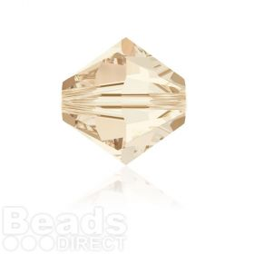5328 Swarovski Crystal Bicones 6mm Light Silk Pk360