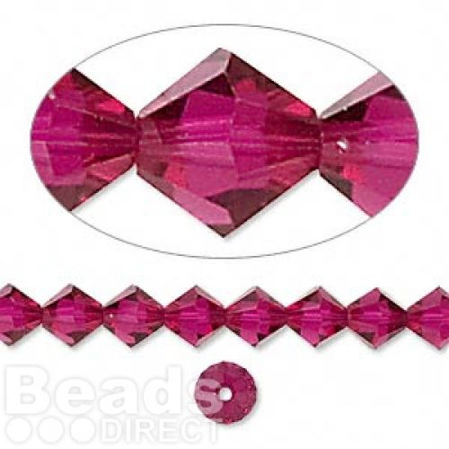 5328 Swarovski Crystal Bicones Xillion 6mm Ruby Pk24