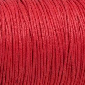 Waxed cord / 1.5mm / red / 1m