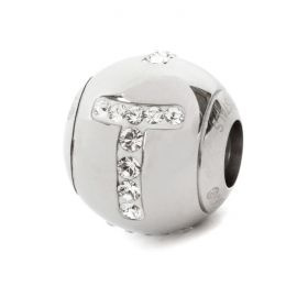82201 Swarovski Crystal BeCharmed Letter 'T' Bead 12mm Pk1