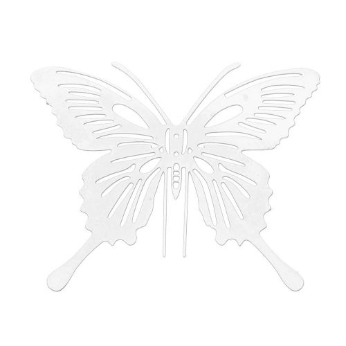 Butterfly / filigree pendant / surgical steel / 38x45mm / silver/ 1pcs