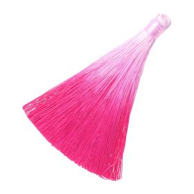 Tassel / viscose thread / ombre / wide braid / 100mm / width 10mm / fuchsia / 1pcs