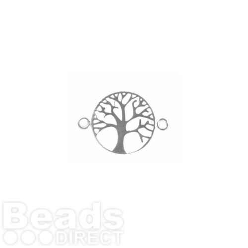 Sterling Silver Tree of Life Connector 17mm Pk1