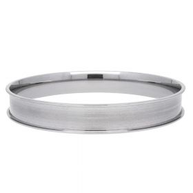 Bracelet base / surgical steel / 10mm / internal diameter 65mm / silver / 1pcs