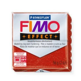 Staedtler Fimo Effect Polymer Clay Glitter Red 56g (1.97oz)