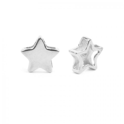 Sterling Silver 925 Small Star Bead Multi Hole 7mm Pk1