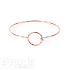 Rose Gold Plated Bangle Base Circle with Hook Fasten Pk1