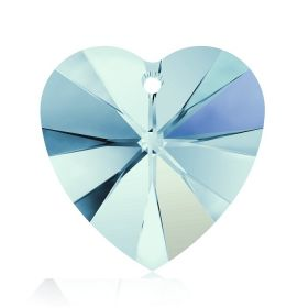 6228 Swarovski Crystal Hearts 10mm Aquamarine AB Pk288