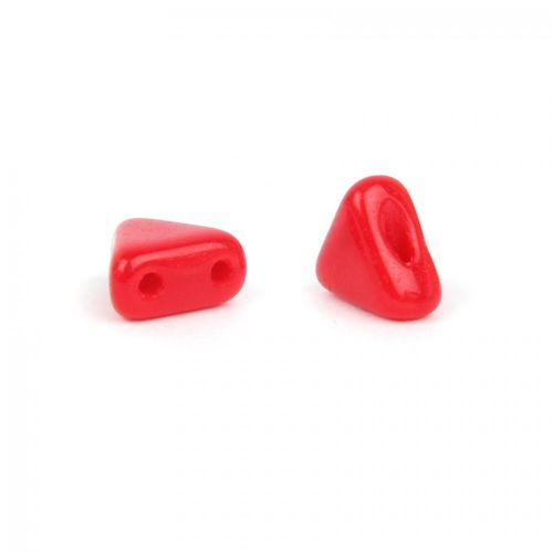 Opaque Coral Red Kheops Par Puca Beads 6mm 10g