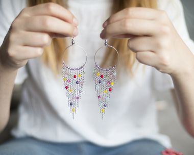 How to make dangling earrings – jewellery making tutorial