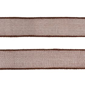 Brown Silk Crepe Ribbon 25mm 80cm Length