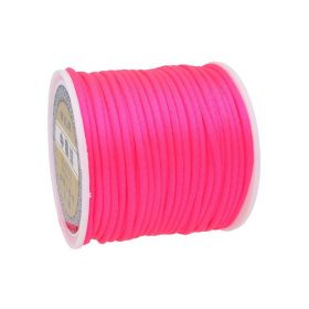 Satin Cord / 2mm / neon pink / 30m