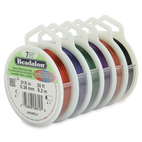 X Beadalon 7 Strand Flexible Beading Wire 6 Pack 0.015in 30ft