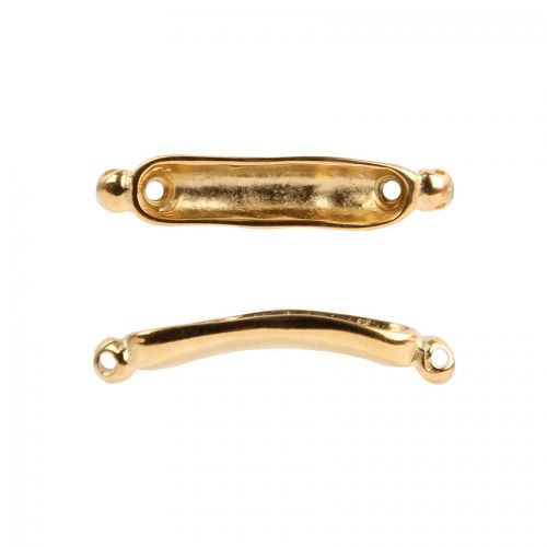 Gold plated Zamak Gondola Connector for 4mm Beads Pack of 1