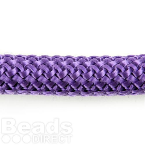 Purple Round Knitted Super Strong Woven Cord 10mm Pre Cut 40cm