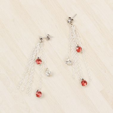 Crystal Flame Earrings