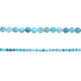 """Apatite Semi Precious Faceted Round Beads 3mm 15"""" Strand"""