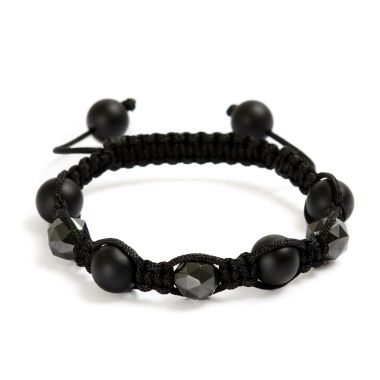 Black and Gunmetal Hematite Bracelet