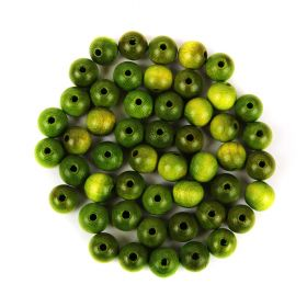 Preciosa Wood Beads 10mm Green Pk50