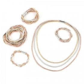 Gold/Silver/Copper Premium Crystal Mesh/Cord Kit - Makes x5