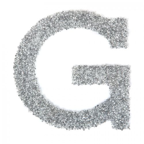 Swarovski Crystal Letter 'G' Self-Adhesive Fabric-It Transparent CAL Pk1