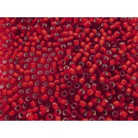 TOHO ™ / Round 11/0 / Silver Lined Frosted / Ruby / 10g / ~ 1100pcs