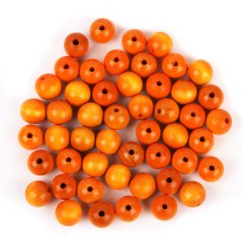 Preciosa Wood Beads 12mm Yellow Pk50