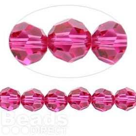 5000 Swarovski Crystal Faceted Rounds 8mm Fuchsia Pk6