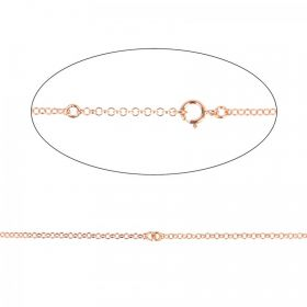 Rose Gold Plated Sterling Silver 925 Connector Chain Necklace 35-41cm