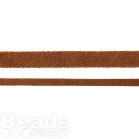 Brown Flat Real Suede Cord 5mm 2metres