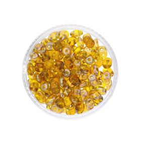 SuperDuo™ / glass beads / 2.5x5mm / Celsian / Jonquil / 10g / ~140pcs