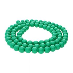 Milly™ / satin round / 12mm / green / 70pcs