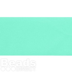 Mint Green Lycra Ribbon Cord 30mm Pre Cut 1 Metre
