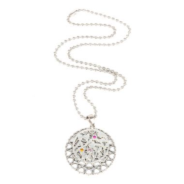 Floral Filigree Coin Necklace