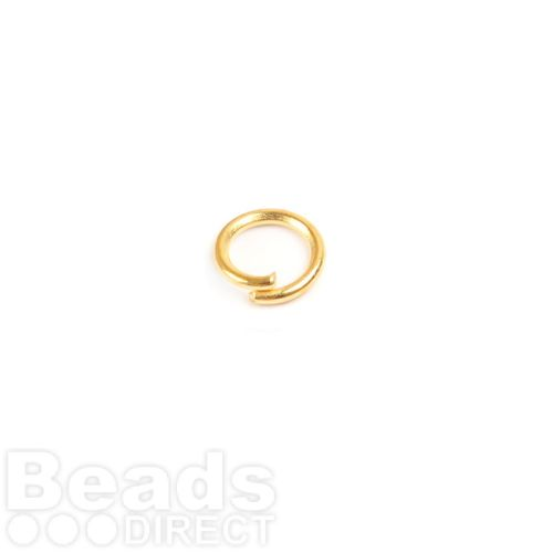 Gold Plated Iron Jumprings 6mm 0.8mm Thick Pk100