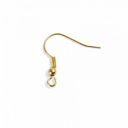 X Gold Plated Nickel Free Earwires with Ball and Coil Pk20