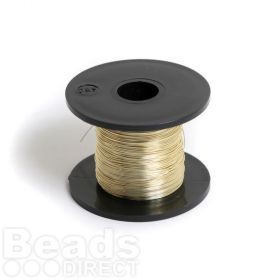 Champagne Copper Beading Wire 0.32mm 28gauge 50g/70metres