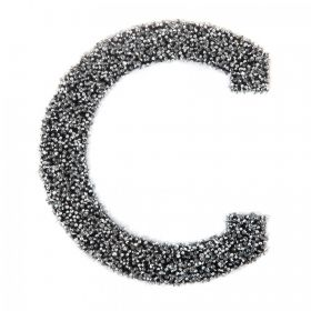 Swarovski Crystal Letter 'C' Self-Adhesive Fabric-It Black CAL Pk1