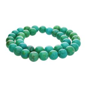 Turquoise / round / 6mm / green / 66pcs