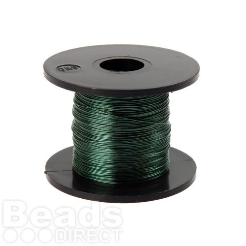 Vivid Green Coloured Copper Craft Wire 0.315mm 70metre Reel