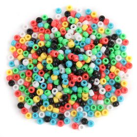 Multi Colour Large Acrylic Pony Beads 6x9mm (4mm Hole) Pk600