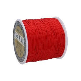 Macramé™ / Macramé cord / nylon / 0.8mm / red / 100m