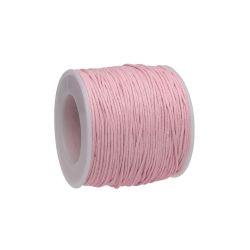Waxed cord / light pink / 1.0mm / 72m